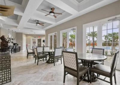 Enjoy dinner in the clubhouse restaurant at Solterra Resort, Davenport, Orlando