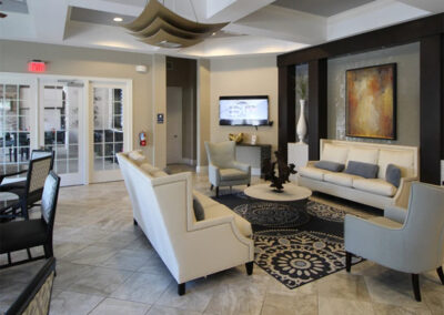 Relax in the clubhouse lounge at Solterra Resort, Davenport, Orlando