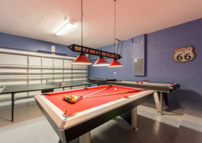 The games room at Sonoma Resort 2, Kissimmee