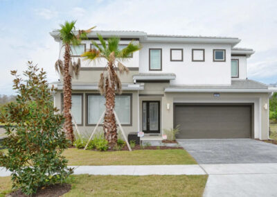 Sonoma Resort 41, Kissimmee is a spacious six ensuite bedroom villa close to Celebration golf and Disney theme parks (15 minutes). It has a private pool, games room & well-appointed living space for up to 16 guests. Resort pool with cabanas, water slide & sports courts.