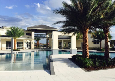The clubhouse & one of several swimming pools at Sonoma Resort, Kissimmee, Orlando