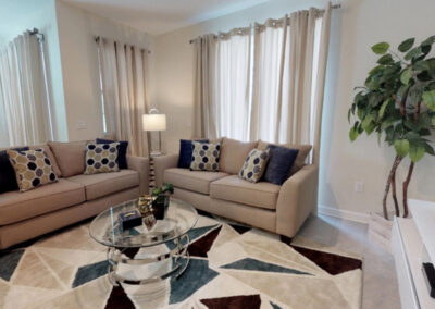 The living area at Storey Lake Resort 208, Kissimmee, Orlando