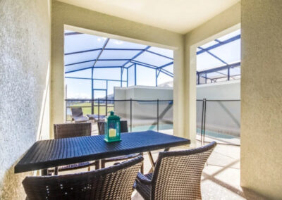 The covered lanai & alfresco dining area at Storey Lake Resort 3, Kissimmee