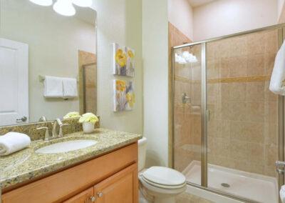 Bedroom #1 adjacent bathroom at Storey Lake Resort 66, Kissimmee, Orlando
