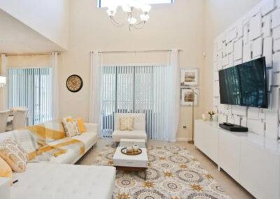 The living area at Veranda Palms 10, Kissimmee