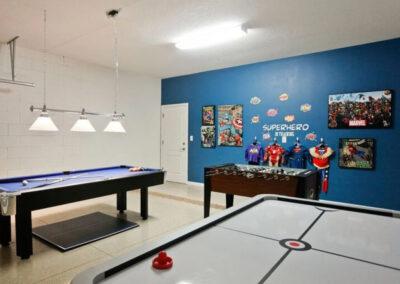 The games room at Veranda Palms 10, Kissimmee