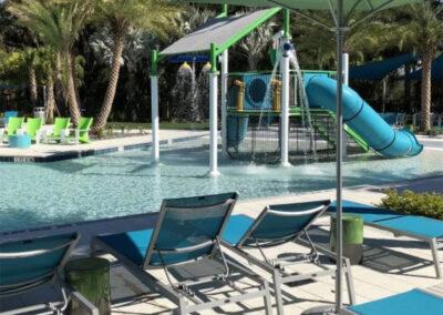 The swimming pool & water slides at Veranda Palms, Kissimmee
