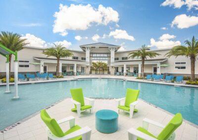 The resort swimming pool at Veranda Palms, Kissimmee