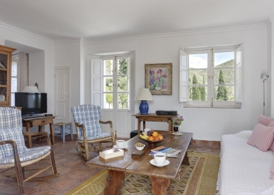 The living area at Villa Agnes, Frigiliana