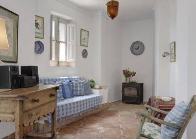 The second living area at Villa Agnes, Frigiliana