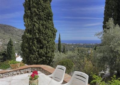 The terrace at Villa Agnes, Frigiliana