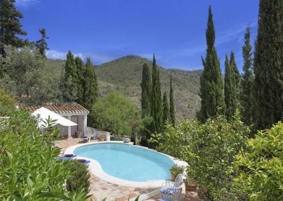 The swimming pool & pavilion at Villa Agnes, Frigiliana