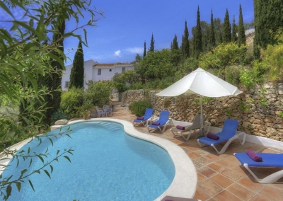 The swimming pool at Villa Agnes, Frigiliana