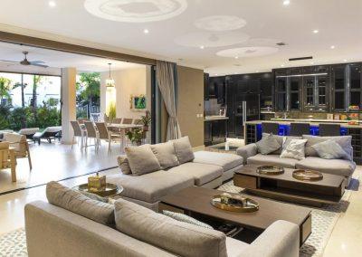 The living area at Villa Alandalus, Nueva Andalucía