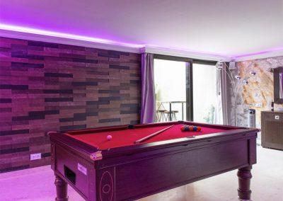 The games room at Villa Alandalus, Nueva Andalucía