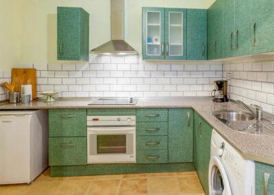 The ground floor kitchen at Villa Albaricoque, Nerja