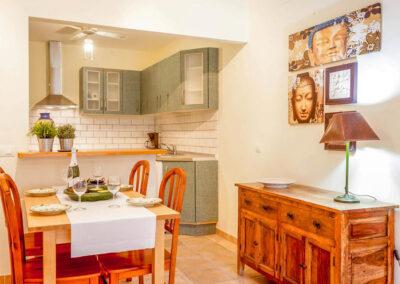 The ground floor dining area at Villa Albaricoque, Nerja
