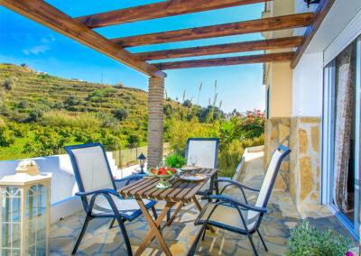 The terrace at Villa Albaricoque, Nerja