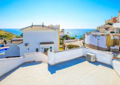 Enjoy the magnificent sea views from Villa Albaricoque, Nerja