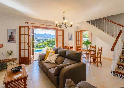 The living area at Villa Angelinas, Nerja
