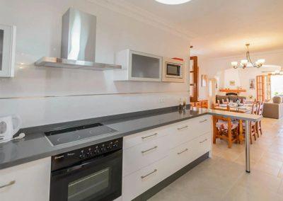 The kitchen at Villa Angelinas, Nerja