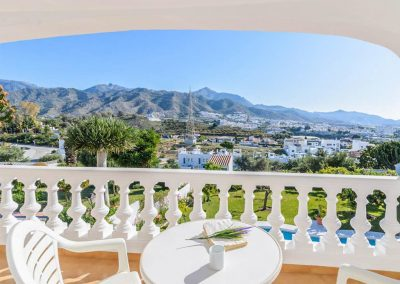 The view from the first floor terrace at Villa Angelinas, Nerja