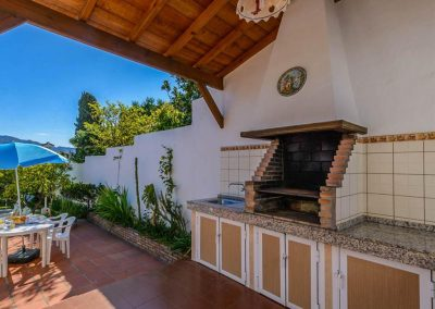 The barbecue area at Villa Angelinas, Nerja