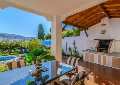 The barbecue & outdoor dining area at Villa Angelinas, Nerja