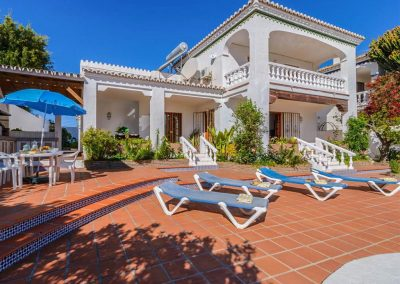 The patio at Villa Angelinas, Nerja