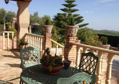 The terrace & alfresco dining area at Villa Antisa, Villanueva de la Concepción