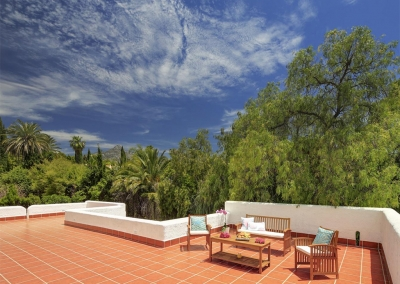 The first floor terrace at Villa Atalaya, Nueva Andalucía