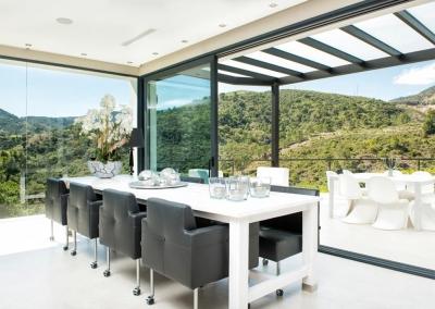 The dining area at Villa Bucolico, Benahavís