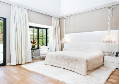 The master bedroom at Villa Bucolico, Benahavís