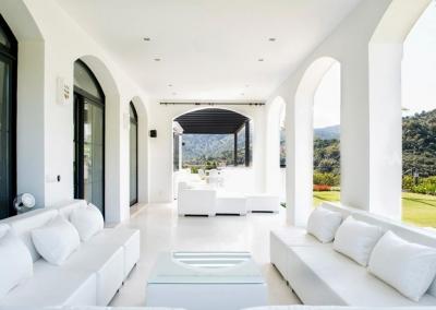 The terrace & outdoor seating area at Villa Bucolico, Benahavís