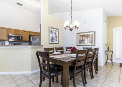The dining area at Villa Carter, Aviana Resort, Davenport, Florida