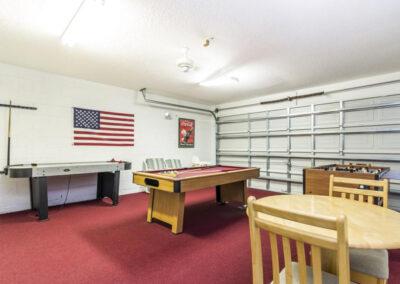 The games room at Villa Carter, Aviana Resort, Davenport, Florida