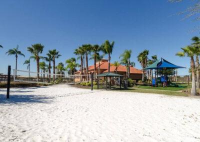 The beach volleyball court at Aviana Resort, Davenport, Florida