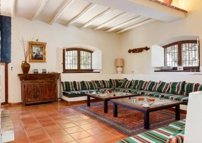 The first living area at Villa Casanova, Nerja