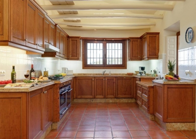 The kitchen at Villa Casanova, Nerja