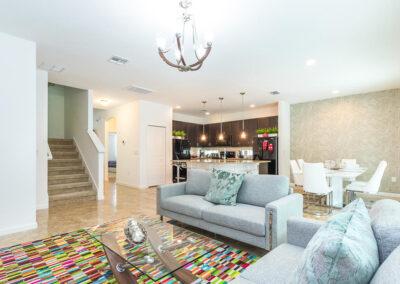 The ground floor living area at Villa Emeline, Bella Vida Resort, Kissimmee
