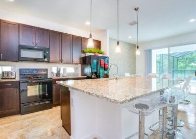 The kitchen at Villa Emeline, Bella Vida Resort, Kissimmee