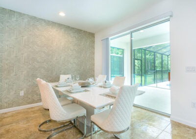 The dining area at Villa Emeline, Bella Vida Resort, Kissimmee