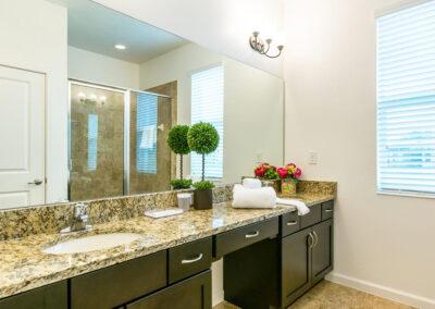 The ground floor shower room at Villa Emeline, Bella Vida Resort, Kissimmee