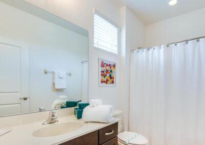 The first floor bathroom at Villa Emeline, Bella Vida Resort, Kissimmee