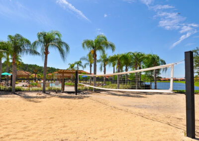 The beach volleyball court at Bella Vida Resort, Kissimmee