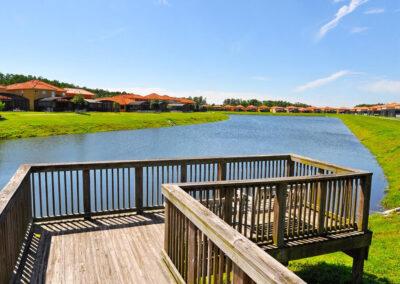 The lake & walking trails at Bella Vida Resort, Kissimmee