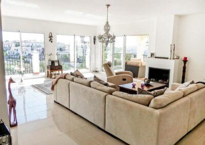 The living area at Villa Eneldo, Fuengirola