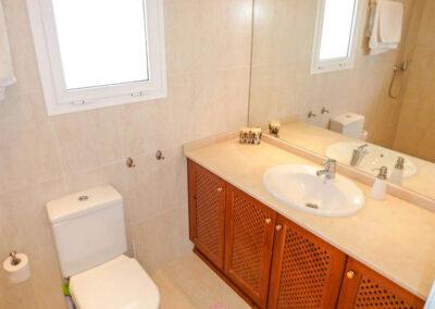 One of two bathrooms at Villa Eneldo, Fuengirola