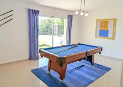 The games room at Villa Eneldo, Fuengirola