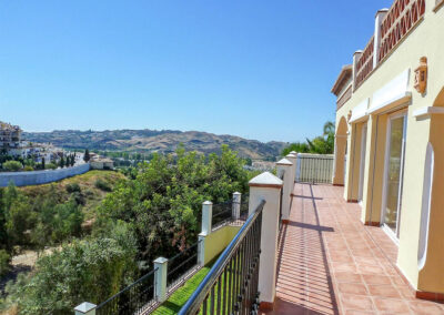The terrace at Villa Eneldo, Fuengirola